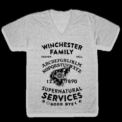 Winchester Family Ouija Board V-Neck Tee Shirt