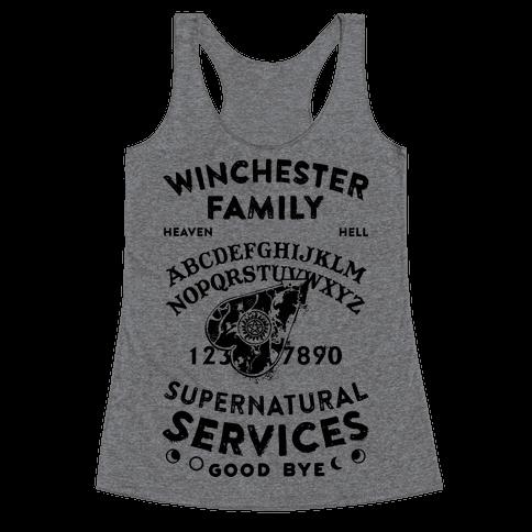 Winchester Family Ouija Board Racerback Tank Top