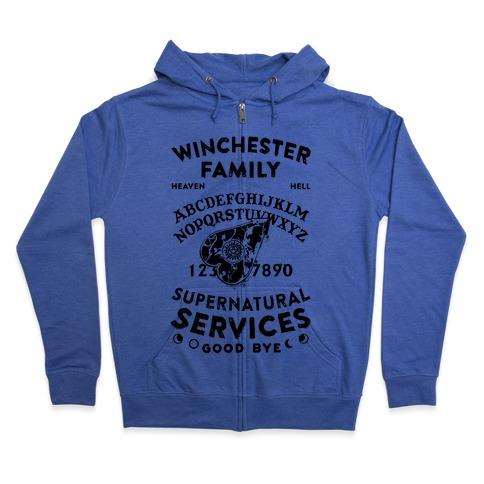 Winchester Family Ouija Board Zip Hoodie