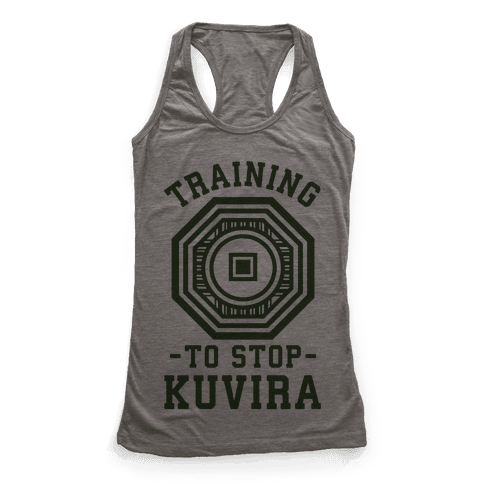Training to Stop Kuvira - Racerback Tank Tops