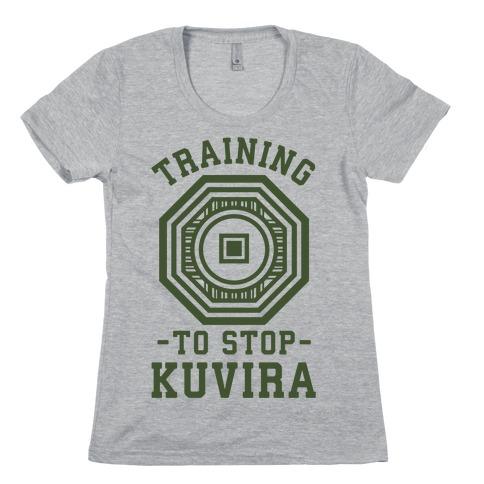 Training to Stop Kuvira Womens T-Shirt