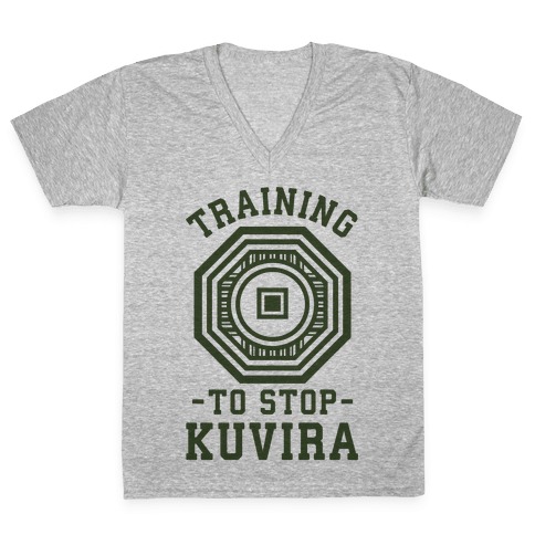Training to Stop Kuvira V-Neck Tee Shirt