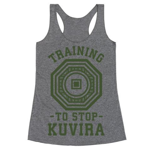 Training to Stop Kuvira Racerback Tank Top