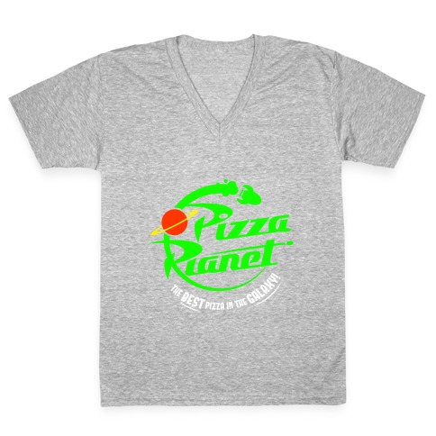Pizza Planet V-Neck Tee Shirt