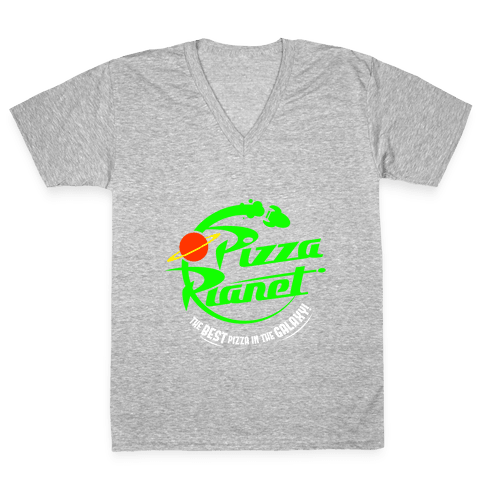 Pizza Planet V-Neck Tee Shirt