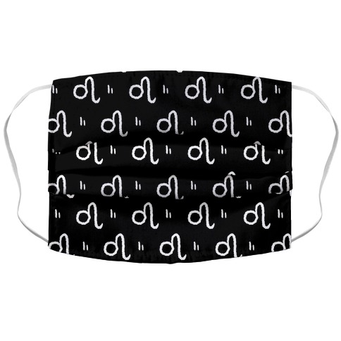 Leo Symbol Pattern Black and White Face Mask Cover