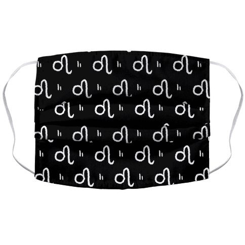 Leo Symbol Pattern Black and White Face Mask
