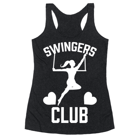 Trapeze Swingers Club Racerback Tank Top