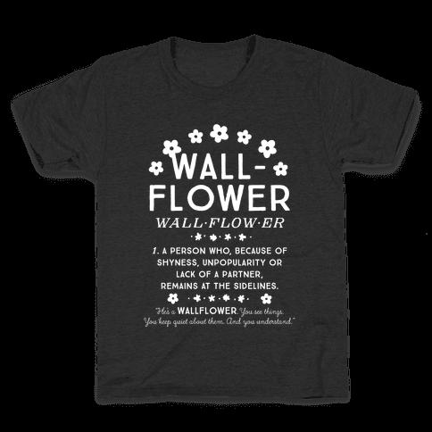 Definition of a Wallflower Kids T-Shirt