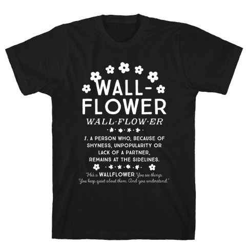 Definition of a Wallflower Mens T-Shirt