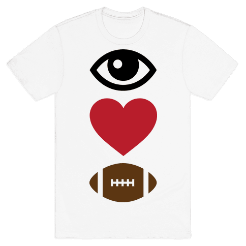 Eye Love Football Mens T-Shirt