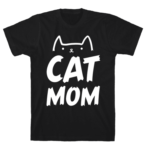 Cat Mom Mens T-Shirt