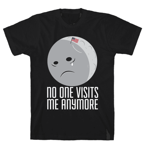 Sad Moon Mens T-Shirt