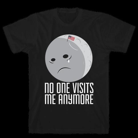 Sad Moon Mens T-Shirt