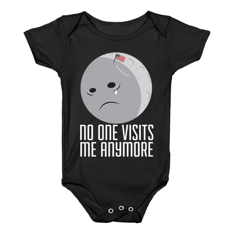 Sad Moon Baby Onesy