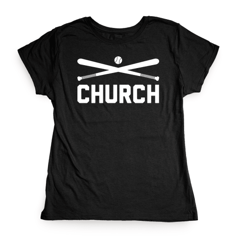 Baseball Church Womens T-Shirt
