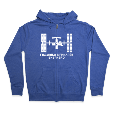 International Space Station Insignia Zip Hoodie