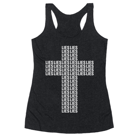 Cross of Lies Racerback Tank Top