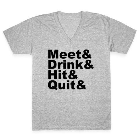 Party Night V-Neck Tee Shirt