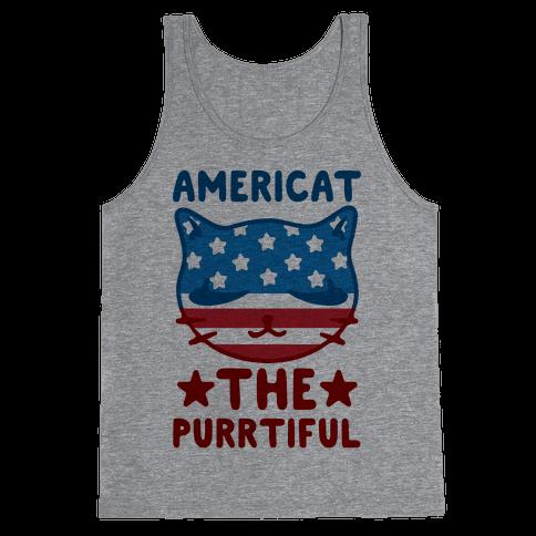 Americat The Purrtiful Tank Top