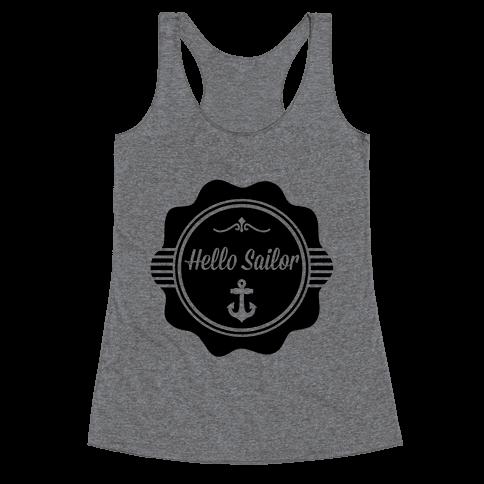 Hello Sailor Racerback Tank Top