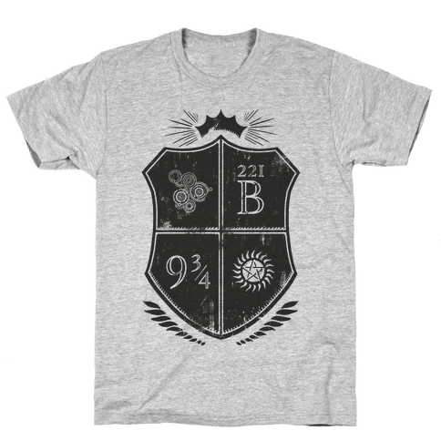 Fandom Family Crest Mens T-Shirt