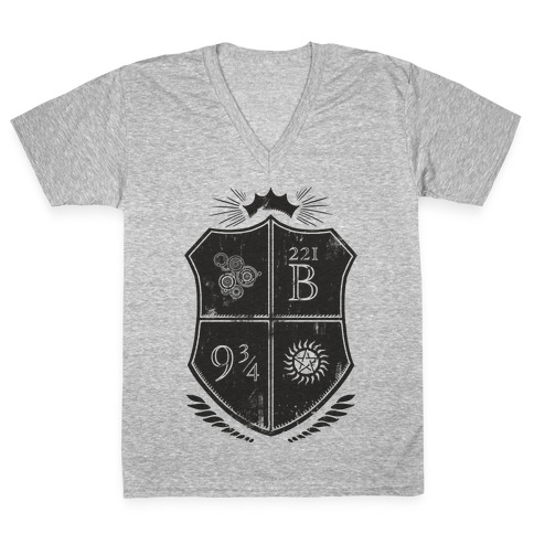 Fandom Family Crest V-Neck Tee Shirt