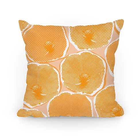 Large Yellow Poppy Flower Pattern Pillow