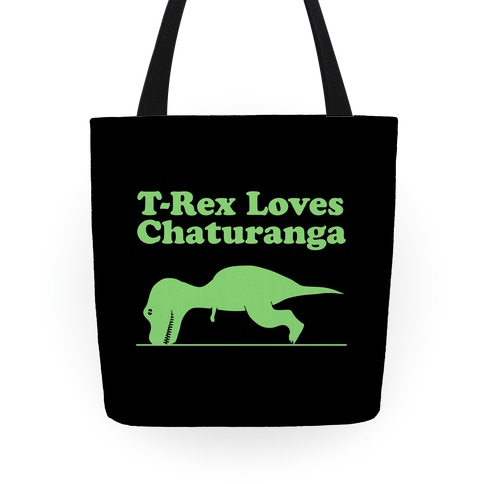 T-Rex Loves Chaturanga Tote