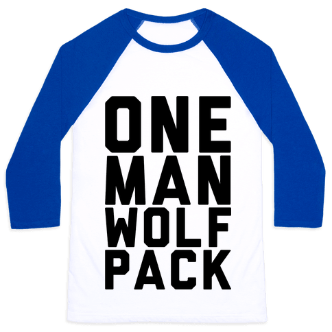 One Man Wolf Pack Baseball Tee