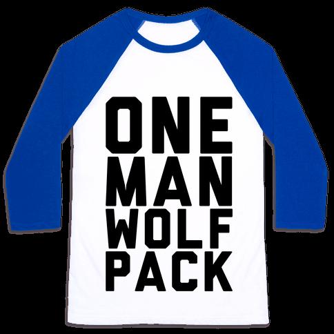 One Man Wolf Pack Baseball Tee