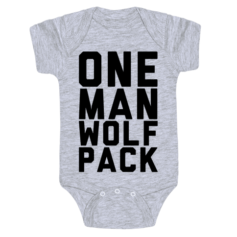 One Man Wolf Pack Baby Onesy