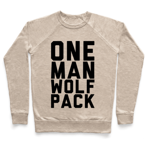 One Man Wolf Pack Pullover