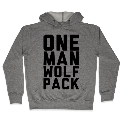 One Man Wolf Pack Hooded Sweatshirt