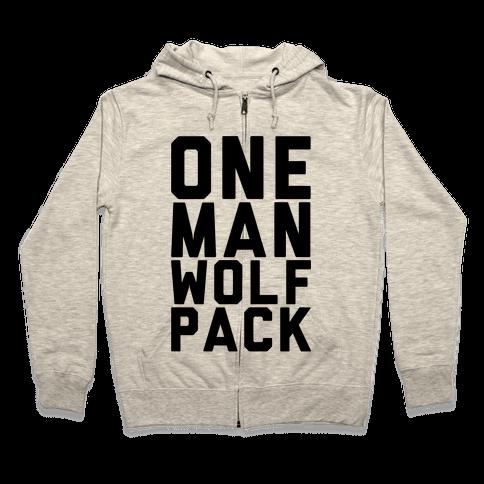 One Man Wolf Pack Zip Hoodie