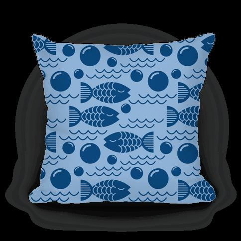 Geometric fish throw pillow lookhuman for Fish throw pillows