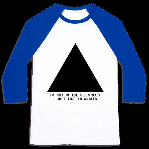 Not in the Illuminati Baseball Tee