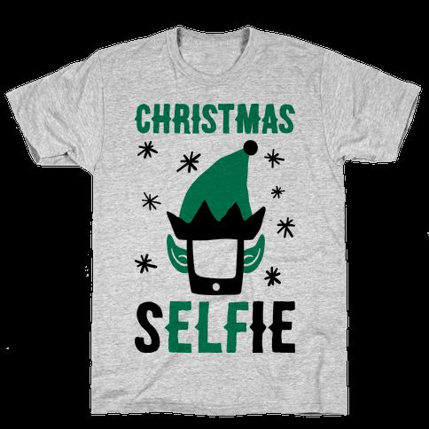 Christmas Selfie Mens T-Shirt