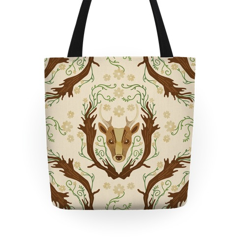 Floral Deer Tote