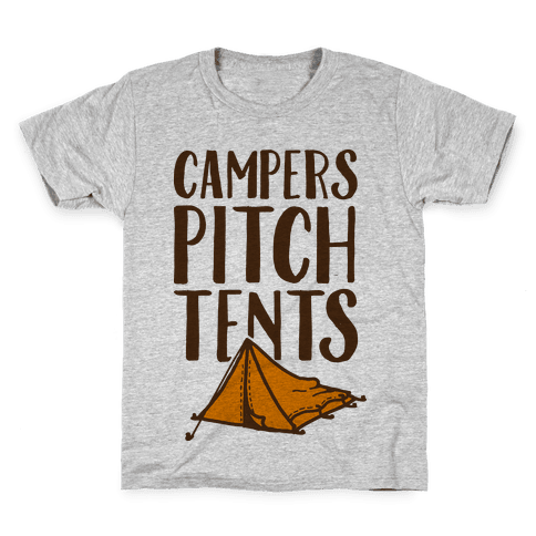 Campers Pitch Tents Kids T-Shirt