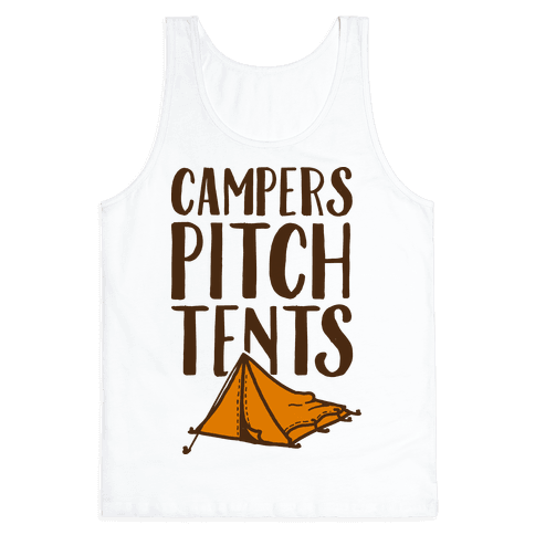 Campers Pitch Tents Tank Top