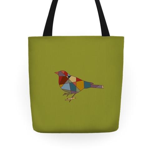 Mosaic Pattern Bird Tote