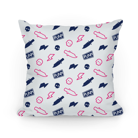 Navy and Pink Rebel Punk Pattern
