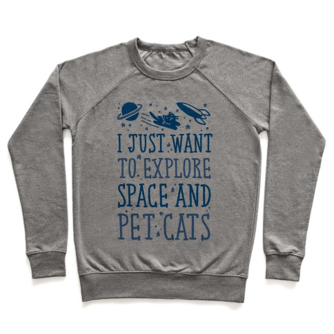 Explore Space and Pet Cats Pullover