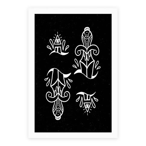 Illuminati Tattoo Daggers Poster