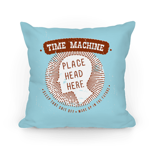 Time Machine Pillow