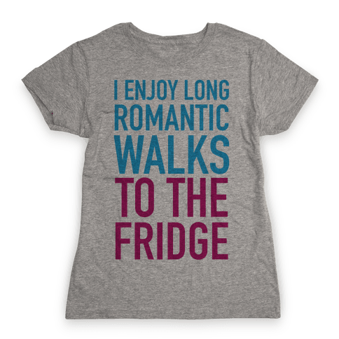 Long Romantic Walks Womens T-Shirt