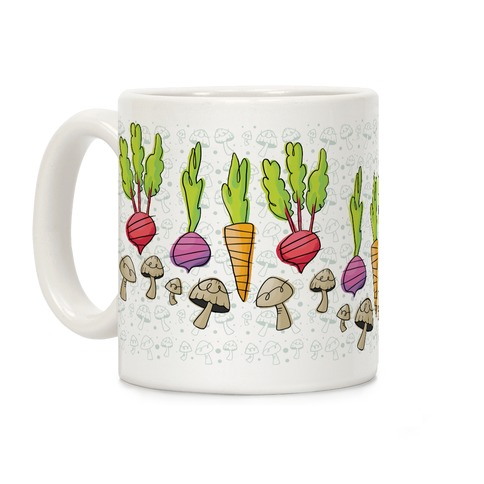 Retro Vegetable Pattern Coffee Mug