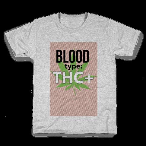Blood Type THC + Kids T-Shirt