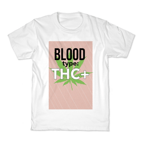 Blood Type THC + Kids T-Shirt